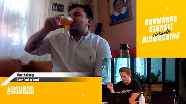 Umut Sakarya var live med igennem til Danmarks Største Virtuelle Ølsmagning