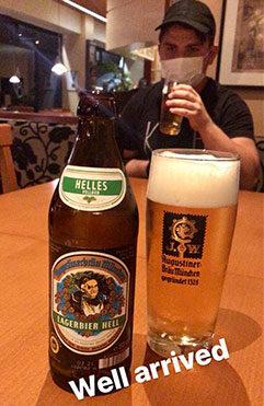 Lokal øl fra Augustiner Brauerei - en skøn Helles