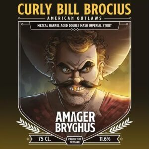 Curly Bill Brocius Mezcal Barrel Aged Double Mash Imperial Stout fra Amager Bryghus American Outlaws
