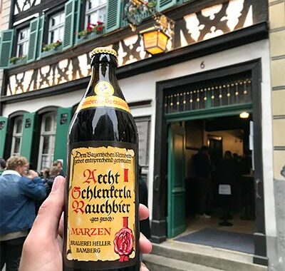 Schlenkerla Bamberg har kun røgøl bla. Rauchbier Märzen